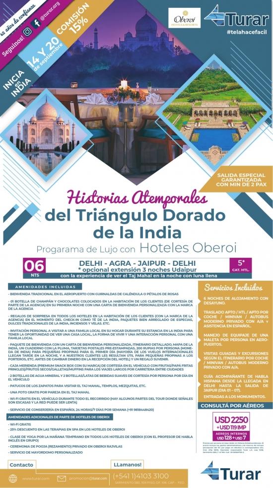 Historias Atemporales del Triangulo Dorado de la India con Oberoi