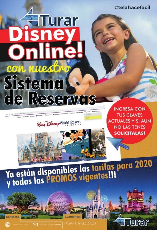 ¡Disney Online con nuestro sistema de reservas!