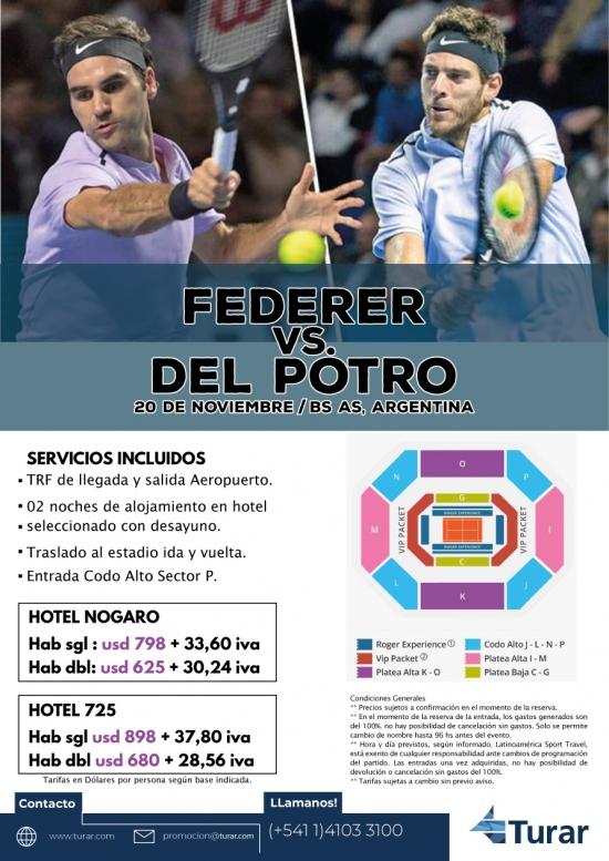 PAQUETE DEL POTRO VS. FEDERER