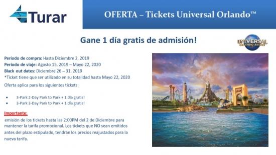 OFERTA - Tickets Universal Orlando